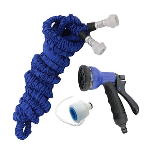 Dooxii Bewässerung Gartenschlauch Teleskop-Wasserleitung für Haushaltswäsche Aufrollbarer Wasserschlauch (Blau#2, 15m)
