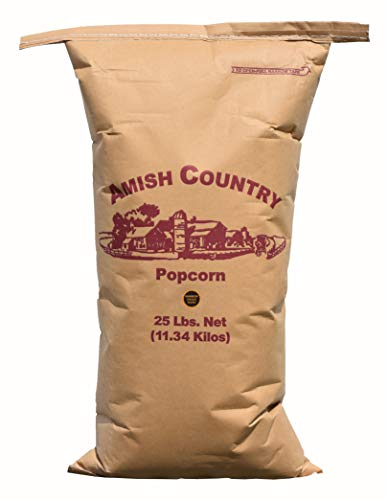 Amish Country Popcorn   25 lb Bag   Rainbow Popcorn Kernels   Old Fashioned with Recipe Guide (Rainbow - 25 lb Bag)
