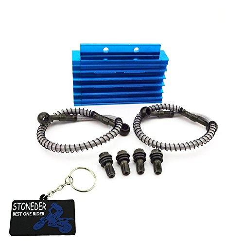 stoneder blau CNC Aluminium Ölkühler für chinesische Pit Dirt Motor Bike Trail Motorrad 125cc 140cc 150cc