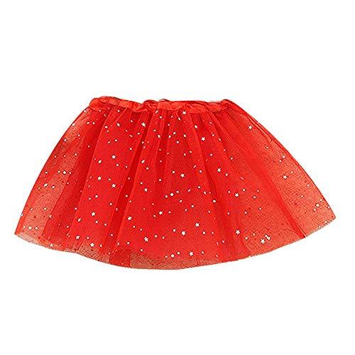 YWLINK Beb NiO NiA Princesa Estrella Lentejuelas Fiesta Baile Ballet Tut Falda Lindo Disfraz De Danza Navidad/Halloween/Carnaval Regalo De CumpleaOs