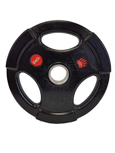 LORSOSPORT Bodypower - Discos olímpicos de goma (2 x 10 kg, 2 unidades)