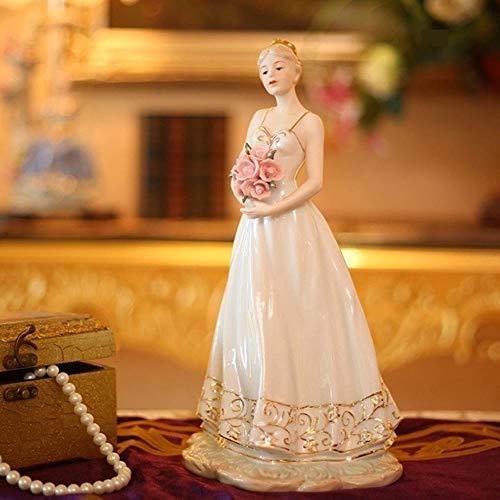 GYJZZW Statua Ceramica Decorazione Statuetta in Porcellana Classica Belle Maiden Statuina in Ceramica Figurina Principessa Regalo Artigianato Ornamento per Salotto E Decorazione Camera da Letto, Mult