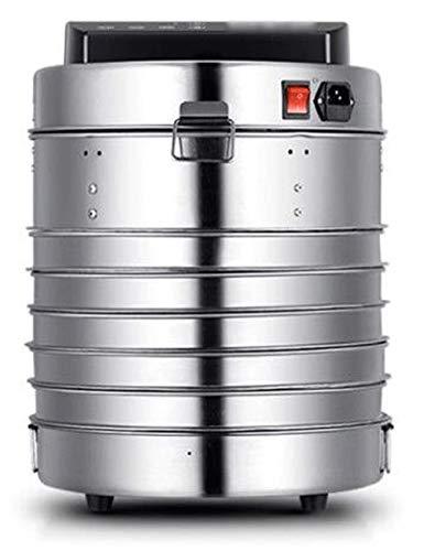 ZHWAN Dörrautomat, Programmierung der Zeitsteuerung - Temperaturkontrolle, mit 3/5 Stapelbaren Tabletts, Geringer Energieverbrauch, Edelstahl, 360W (Stil : 3-Layer Tray)