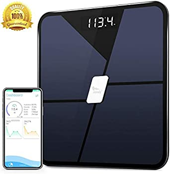 Himaly Bluetooth Body Fat USB Rechargeable Digital Weight Scale