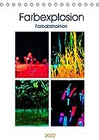 Farbenabstraktion Farbenexplosion (Tischkalender 2022 DIN A5 hoch): Farbenexplosion mit Wassertropfen. (Monatskalender, 14 Seiten )