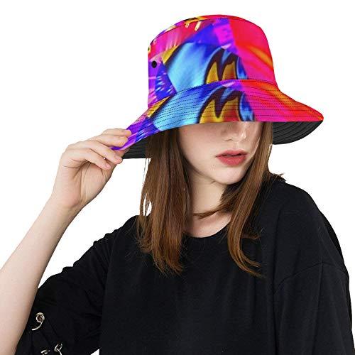 RAUP Abstract Fantasy Ornament Pattern Creative Fractal Bucket Hats Summer Travel Beach Sun Hat Outdoor Cap Unisex