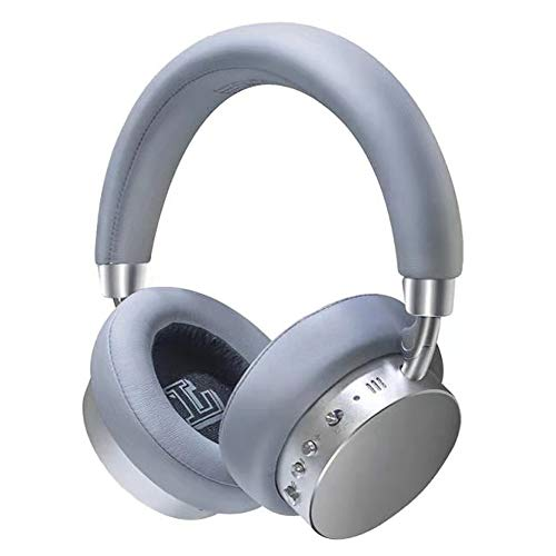 Active Noise Cancelling Headphones Any Warphone Bluetooth Headphones with Mic Deep Bass,Foldable and Rotatable Metal Headphones Over Ear,30H Playtime for Travel Work TV PC.
