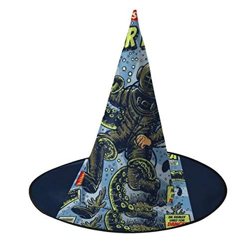 NUJSHF Sombrero de Bruja de Buceo bajo el mar, Disfraz Unisex para Vacaciones, Halloween, Navidad, Carnaval, Fiesta