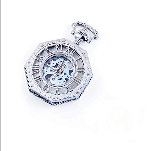 mzq mzq Geschenke für mechanische Pocket Watch Männer ausgehöhlten Denkmal Pocket Watch Herren Flip