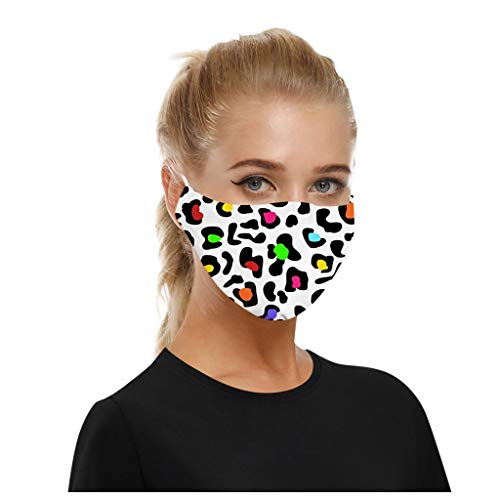 Lowest Prices! JIUDASG Universal Print Dust Windproof Smog Washable Face Bandanass for Adults Reusab...