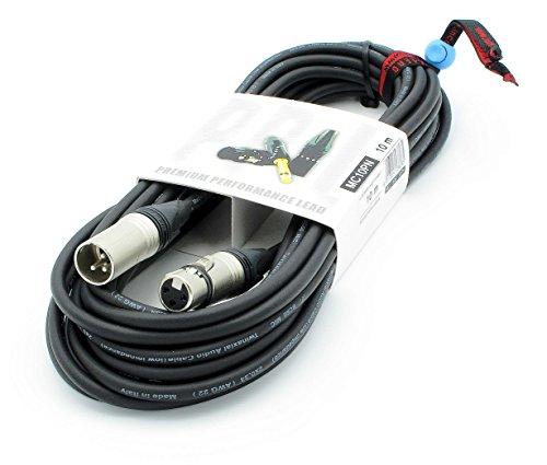 X-LEAD MC10PN100BK serie PLATINUM - Cavo microfonico professionale di alta qualità - XLR/XLR - cavo bilanciato - connettori originali NEUTRIK - (10 m, nero) - MADE IN ITALY by INCO