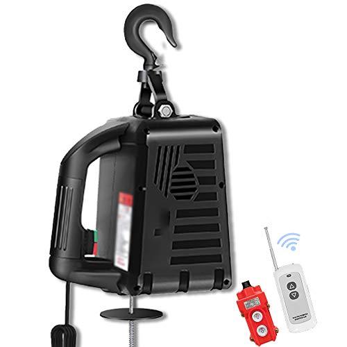 WUK Mini polipasto eléctrico, 100-500 kg Herramienta de elevación de Carretilla elevadora...