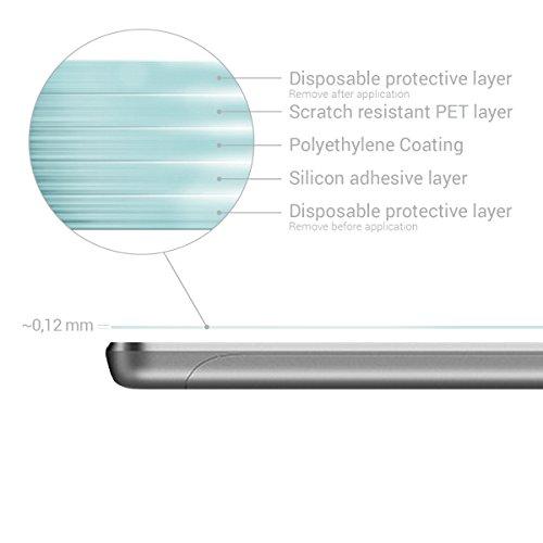 kwmobile 2x Huawei MediaPad T3 8.0 Folie - Full Screen Tablet Schutzfolie für Huawei MediaPad T3 8.0 entspiegelt - 3