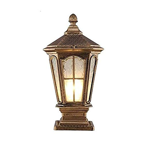 LSSB IP54 Waterproof Glass Door Column Light Retro Street Lamp Outdoor Lawn Villa European Community Park Lamp Lawn Courtyard Landscape Fence Door Post Pillar Decoration Lighting Fixture
