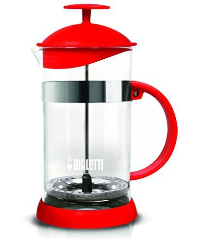 Bialetti 0006182 Kaffeebereiter, Glas, rot, 16 x 11.5 x 22.5 cm