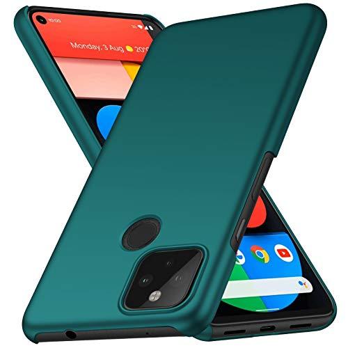 ORNARTO Hülle für Pixel 5 5G, Ultra Dünn Schlank Anti-Scratch FeinMatt Einfach Handyhülle Abdeckung Stoßstange Hardcase für Google Pixel 5 5G(2020) 6,0 Zoll Grün