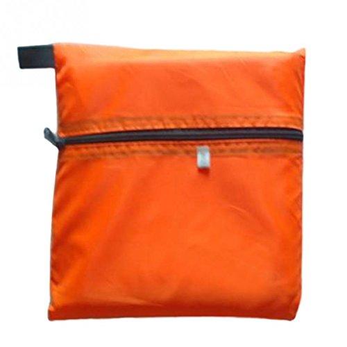ECYC® Tente De Plage Multifonctionnelle ExtéRieure ImperméAble à l'eau Ultra-LéGèRe De Tapis De Camping D'Abri De Soleil, Orange