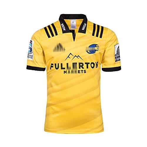 2018 die neuseeländischen Hurrikane Heim-Rugby-Trikot Hurricanes Schnelltrocknendes Trainingshemd Herren Damen Jugend Jugend Kurzarm Rugby Shirts Lose Rugby Uniform-S