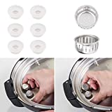 6pcs Electrical Pressure Cooker Float Valve Gaskets and 2pcs Original Anti-Block Shield for Instant Pot