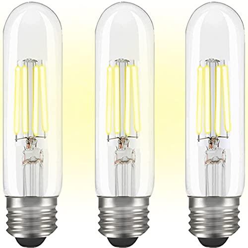 T10 LED Bulbs Daylight 4000K, Dimmable Tubular Light Bulbs 40 watt, Tubular LED Light Bulbs 4W E26 Medium Base, LED Filament Light Bulbs 40 watt for Desk Lamp, Pendant Lights(3-Pack)
