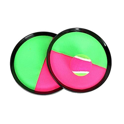 Toyvian Klettballspiel mit Klettball Fangscheiben Ballspiel für Kinder Erwachsene 2 Stück