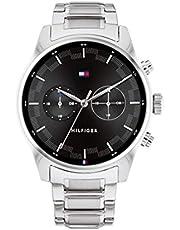 Tommy Hilfiger Herren Analog Quarz Uhr mit Edelstahl Armband 1710419