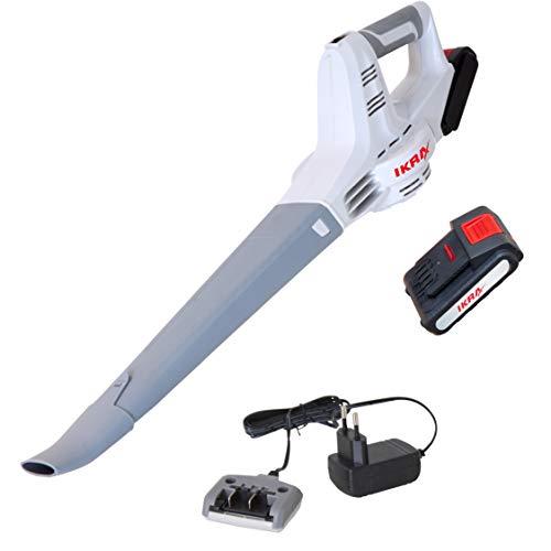 IKRA Akku Laubbläser IAB 20-1, ergonomisch, kompakt und geringes Gewicht, inklusive Akku und Ladegerät