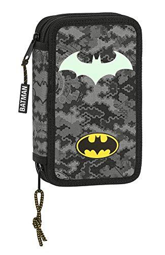 Safta 412004854 Estuche Escolar con 28 Útiles Incluidos de Batman Night, 125x40x195mm