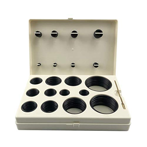 SAE O-Ring BOSS Hydraulic 212 Piece O Ring Assortment Seal Kit Buna-N 90 for Hydraulic Fittings Hoses (212pcs)