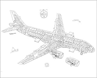 Media Storehouse 10x8 Print of Airbus A320 Cutaway Drawing (4499470)