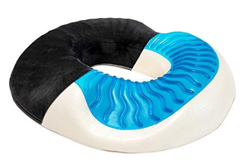 LENIX Sitzring | Innovatives Gel-Donut Sitzkissen zur Entlastung des Steißbeins