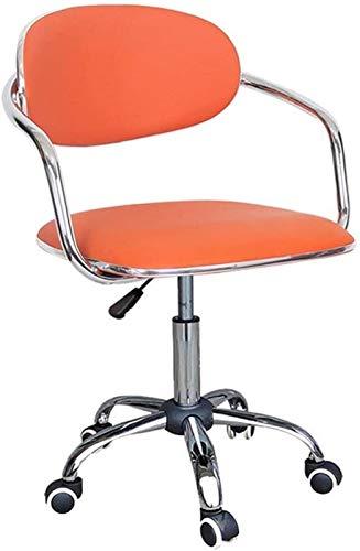 GDXFSM Sgabelli da Bar Girevoli Regolabili Poltrone Sedia da Pranzo per Computer Semplice Semplice Studio Domestico Sedia da Pranzo Rotante Indietro Rattan Cash Register Desk Chair (Color : D)
