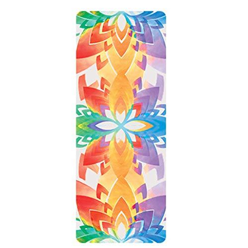 WiHoo Preumium Yogamatte aus hochwertigen TPE, rutschfest Yogamatte Gynastikmatte Übungsmatte Sportmatte für Yoga, Pilates,Fitness usw versch Farben- Maße 183 x 60 x 1.5 cm