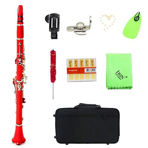Clarinetto a Tubo in bachelite Clarinetto a 17 Tasti con Set di Pulsanti in nichelatura(Rosso; # 1)