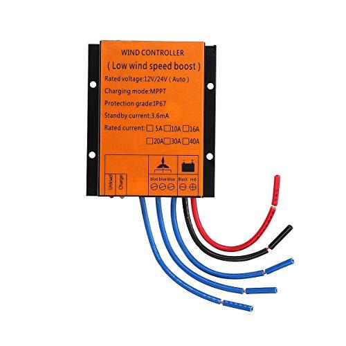 SISHUINIANHUA Windturbinengenerator-Ladungsregler 2000/3000/4000 / 5000W 12 / 24V Auto MPPT Waterproof LED Überspannungsschutz,1000w