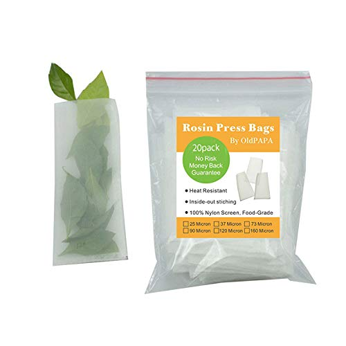 20 Pack Zero Blowout Guarantee 90 Micron Premium Nylon Tea Filter Press Screen Bags 2 x 4 Inch All Micron /& Sizes Available