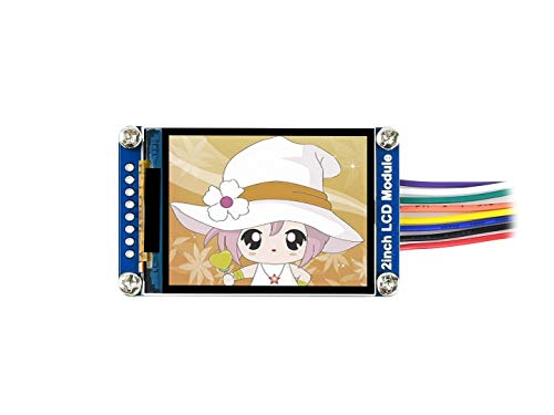 Waveshare General 2inch LCD Display Module IPS Screen 240×320 Resolution with Embedded Controller Communicating via SPI Interface Requires Minimum GPIO for Controlling