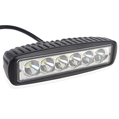 vheelocityin 6 led bar cree auxillary bike fog 18w lamp - set of 1