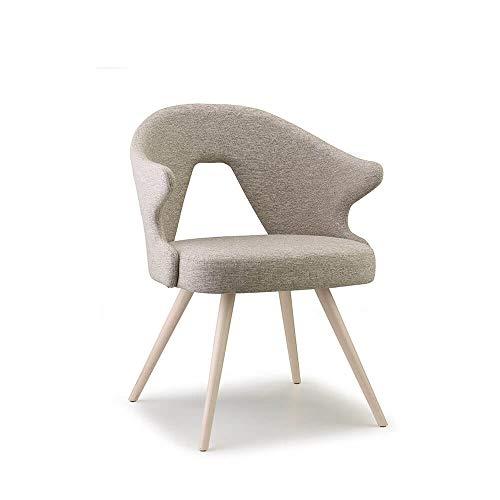 Sillón estilo nórdico, Scab Design con patas de haya