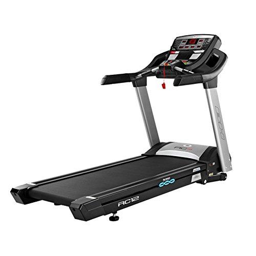 BH Fitness RC12 DUAL G6182. 1-22 km/h. Ren als een pro! Elektrische loopband. 15% helling. XXL loopband. 4,5 pk motor. Combineerbaar met smartphone of tablet. Zwart, Metallic