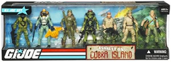G.I. Joe Exclusive Action Figure Boxed Set Assault On Cobra Island
