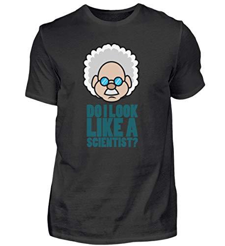 Camiseta para hombre de científicos, química, fisica, profesor, escuela, regalo, divertida Nerd Negro L