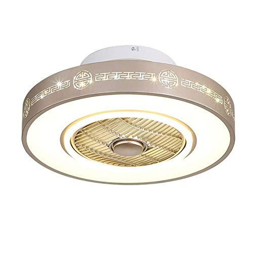 2019 Nueva Ventilador de techo Luz restaurante dormitorio de la luz del ventilador de iones negativos con mando a distancia Ventilador de techo moderna lámpara ventilador techo RVTYR