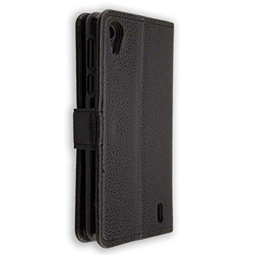 caseroxx Tasche für Medion Life E4005 MD 99253 Bookstyle-Hülle in schwarz Cover Buch