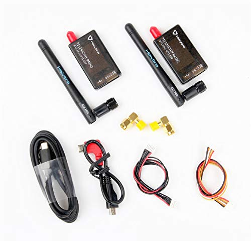 Heaviesk Holybro 433 MHz 500 MW Radio transmisor-Receptor de telemetría FPV V3 para PIXHawk 4 Controlador de Vuelo 117 dBm con Antena para RC Drone