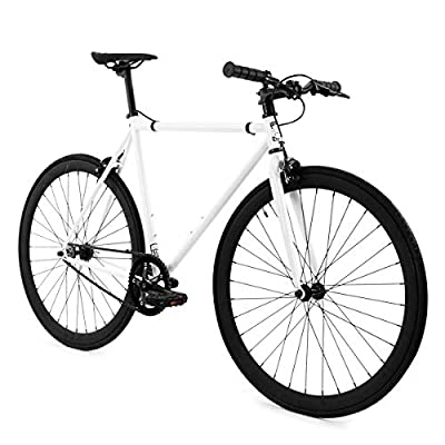 Golden Cycles Fixed Gear Bike Steel Frame with Deep V Rims-Collection, Shocker, 55