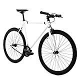Golden Cycles Fixed Gear Bike Steel Frame with Deep V Rims-Collection,...