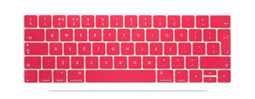 Keyboard Cover Protector Skin Silicone Euro EU English Layout for 2016 New MacBook Pro 13 15 Retina with Touch Bar 2016 2017-rose-