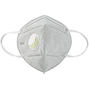 Luzuliyo® Anti Pollution, Reusable, Non-woven with Melt Blown Protective Layer Face Mask (Grey Respirator Pack of 5)