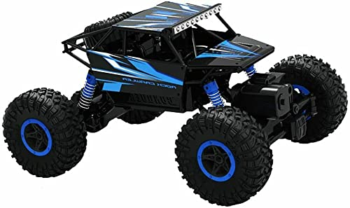 Top Race Remote Control Car For Adults & Kids - RC Monster Truck Buggy With High Speed - Off Road Rock Crawler - Electric 4WD Racing Vehicle Toy with 2.4ghz Technology for Boys Girls Children Blue